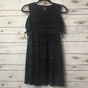 art class Dresses - grey micro striped art class cold shoulder dress